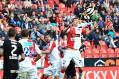Slavia Prague vs. Viktoria Plzen - soccer Stock Photography