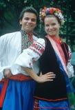 Slavic folk dancers Royalty Free Stock Image