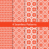 Slavic Folk Seamless Pattern Set Stock Image