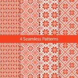 Slavic Folk Seamless Pattern Set Stock Image