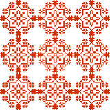 Slavic geometrical ornament. Seamless pattern in red. Color wiht ukrainian and russian traditional elements Stock Images