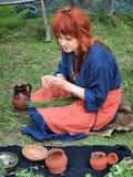Slavic herbalist, Zawieprzyce, Poland Stock Photography