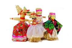 Slavic holiday carnival dolls. Slavic holiday carnival handmade dolls Stock Images