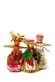 Slavic holiday carnival dolls Royalty Free Stock Photo