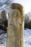Slavic idol.  Ukraine. Wooden statue of the Slavic idol.  Ukraine Stock Photography