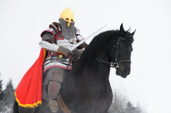 Slavic knight  Stock Photo