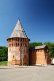 Slavic medieval tower. Slavic medieval city defensive tower royalty free stock photography