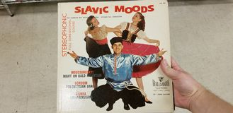 Slavic Moods. Old Found Record stock photography