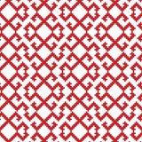 Slavic ornament seamless pattern. Slavic ornament seamless  pattern, red monochrome on transparent background, traditional ethnic ornament Royalty Free Stock Photo