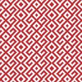 Slavic ornament seamless pattern. Slavic ornament seamless  pattern, red monochrome on transparent background, traditional ethnic ornament Stock Photos