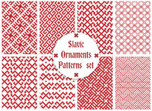 Slavic ornaments patterns set Royalty Free Stock Photos