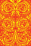 Slavic pattern. Old slavic pattern in red and yellow Royalty Free Stock Photography