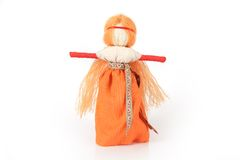 Slavic traditional doll called Paraskeva. Is a patron of feminine arts and crafts Stock Image