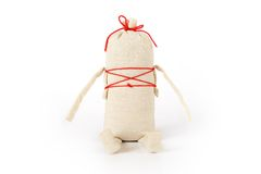 Slavic traditional doll Kasha. In slavic tradition this funny doll called Kasha was a gift to a young girl to bless her future household Stock Photo