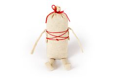 Slavic traditional doll Kasha. In slavic tradition this funny doll called Kasha was a gift to a young girl to bless her future household Stock Photography