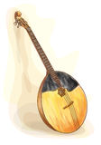 Slavic traditional musical instrument - domra. Stock Images