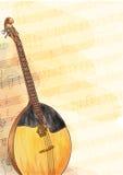 Slavic traditional musical instrument - Domra. Stock Photos