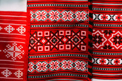 Slavic Traditional Pattern Ornament Embroidery Royalty Free Stock Photography