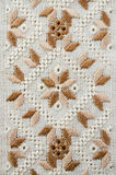 Slavic traditional pattern ornament embroidery by flat stitch . Design of ethnic textures. Stock Photography