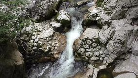 Slavica waterfall,bohinj,slovenie 113342 stock video