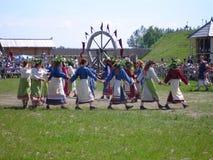 Slavicvolkstanzen Stockbild