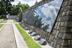 Slavin мемориальный памятник и воинское кладбище в Bratisl Стоковое Изображение RF