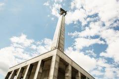 Slavin мемориальный памятник и воинское кладбище в Bratisl Стоковые Фото