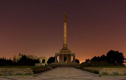 Slavin - Bratislava. Slavin memorial to Red army soldiers and military cemetery in Bratislava, Slovakia Photo with photo long exposure royalty free stock images