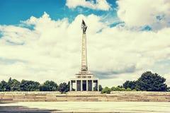 Slavin est le monument commémoratif et le cimetière militaire dans Bratisl photos stock