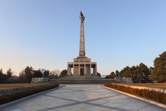 Slavin - memorial monument and cemetery. For Soviet Army soldiers in Bratislava, Slovakia Royalty Free Stock Photography