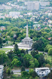 Slavin - memorial monument and cemetery in Bratislava, Slovakia Royalty Free Stock Photo