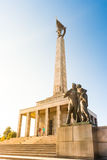 Slavin - memorial monument and cemetery for Soviet Army soldiers Royalty Free Stock Photography