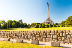 Slavin - memorial monument and cemetery for Soviet Army soldiers Stock Images