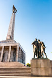 Slavin - memorial monument and cemetery for Soviet Army soldiers Stock Image