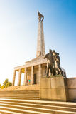 Slavin - memorial monument and cemetery for Soviet Army soldiers Stock Photo