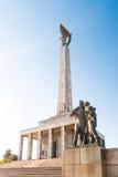 Slavin - minnes- monument och kyrkogård för sovjetiska armésoldater Arkivfoto