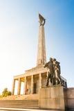 Slavin - minnes- monument och kyrkogård för sovjetiska armésoldater Royaltyfri Fotografi