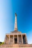 Slavin - minnes- monument och kyrkogård för sovjetiska armésoldater Royaltyfri Foto