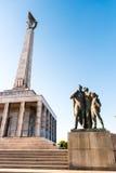 Slavin - minnes- monument och kyrkogård för sovjetiska armésoldater Fotografering för Bildbyråer