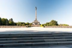 Slavin - minnes- monument och kyrkogård för sovjetiska armésoldater Royaltyfria Bilder