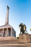 Slavin - minnes- monument och kyrkogård för sovjetiska armésoldater Arkivbild