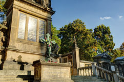 Slavin tomb, designed by Antonin Wiehl, at Vysehrad cemetery Royalty Free Stock Photo