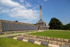 Slavin War Memorial in Bratislava Royalty Free Stock Images