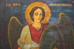 Slavisch orthodox St. Michael pictogram Stock Fotografie