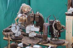 Slavische Bazaarambachten van schrootmaterialen royalty-vrije stock fotografie