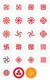 Slavische en Oosterse simbols Royalty-vrije Stock Foto