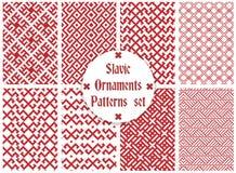 Slavische geplaatste ornamentenpatronen Royalty-vrije Stock Foto's