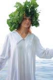 Slavische vrouw Stock Foto's