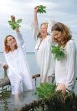 Slavische vrouwen Stock Foto's