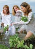 Slavische vrouwen Stock Afbeelding